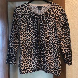 Willi Smith medium cheetah cardigan